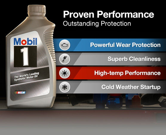 Mobil 1 ad proven performance and outstanding protection